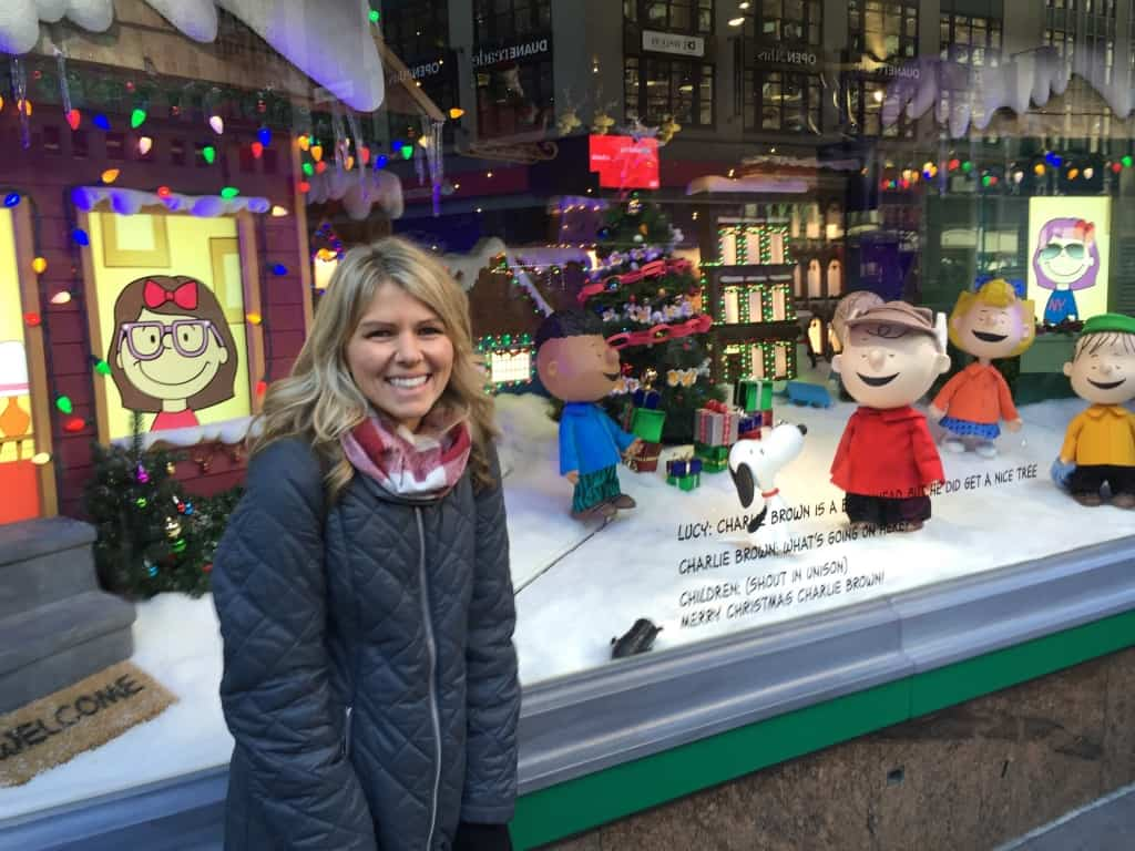 I loved getting to see the Christmas window displays along Fifth Avenue in NYC!