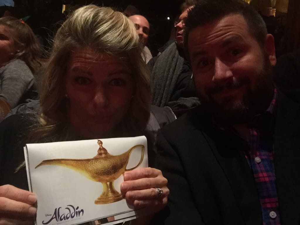 Ryan and I went to Aladdin on Broadway. It was magical (but not our favorite show ever).