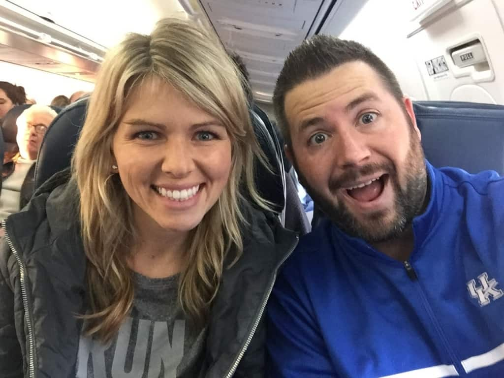 Our trips usually start off with a selfie on the plane. Clearly Ryan was pretty excited here.